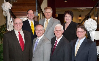 CAN DO officers elected include, front row from left: William Genetti, vice chairman of facilities management; John J. Spevak, chairman of the board of directors; W. Kevin O'Donnell, president; and David McCarthy, vice chairman of sales and marketing. Back row, from left: Llewellyn Dryfoos III, vice chairman of internal operations; Robert Judd, treasurer; and Lonnie Polli, secretary.