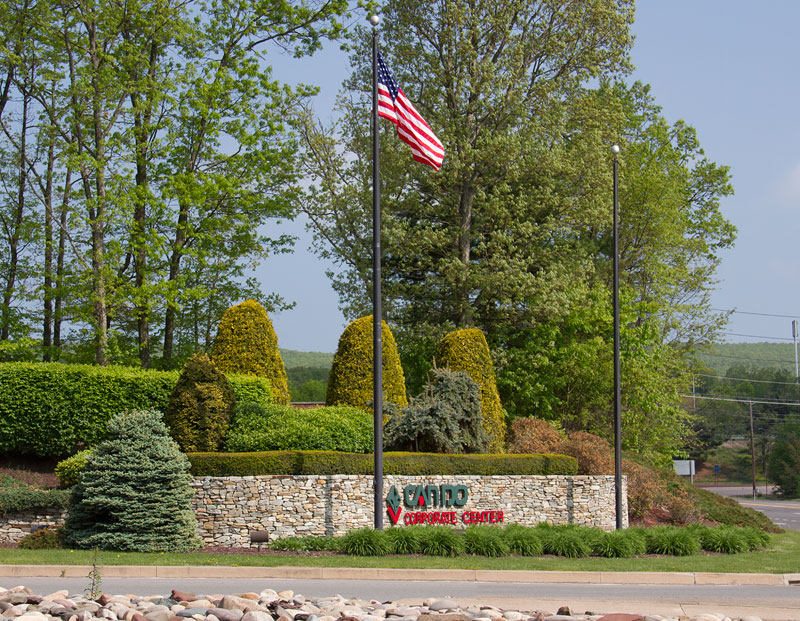 The main entrance to the CAN DO Corporate Center, Drums, PA.