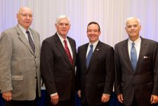 From left: Bill Genetti, chairman of the Governance Committee, which oversaw the development of the strategic plan; Kevin O'Donnell, CAN DO president; Lew Dryfoos, CAN DO chairman of the board; and Al Weber of Tweed-Weber, strategic plan consultant.